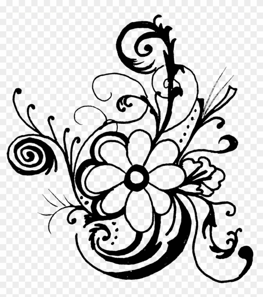 840x949 Fancy Lines Clipart