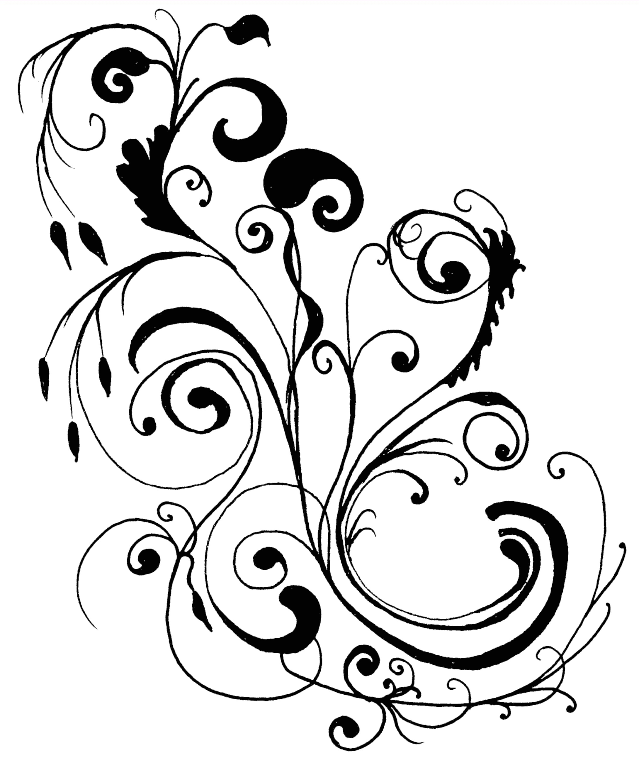 2180x2584 Gorgeous Images Of Line Drawings Of Flower Border Collection