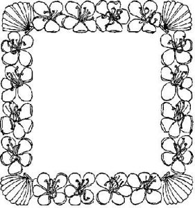 281x300 How To Draw Coloring Flower Border Image Coloring Pages