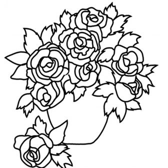 336x336 Black And White Skull Rose Drawing Flower Line Clip Art