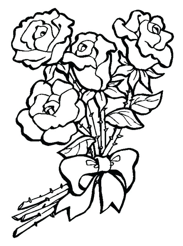 600x808 bouquet of flowers coloring pages flower bouquet of roses coloring