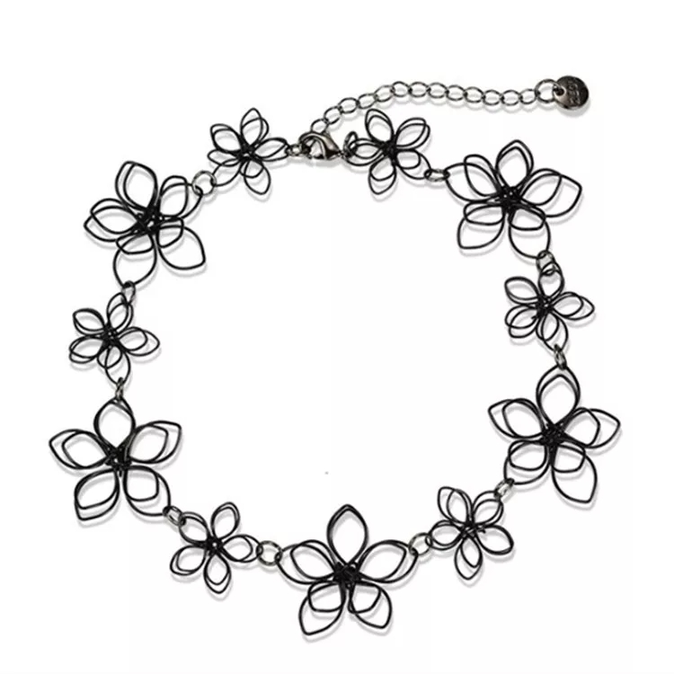 750x750 flower chain choker chain necklace buy necklaces