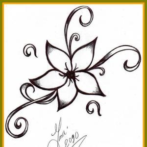 300x300 Easy Drawings Of Flower Designs