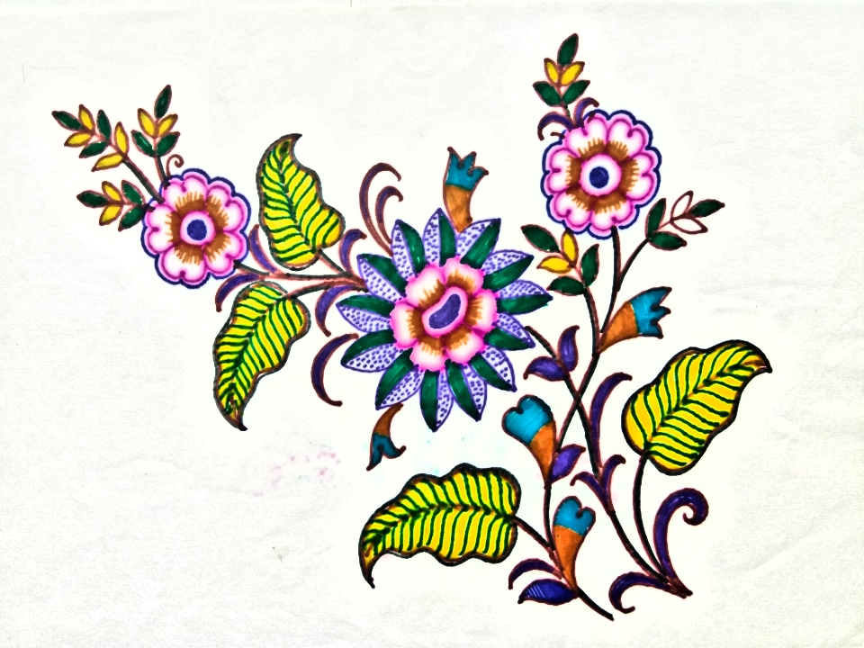 960x720 Flower Design Drawing For Hand Embroidery Designhow To Draw Hand