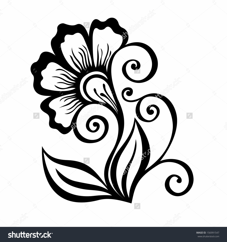 960x1024 Simple Flowers Design For Drawing