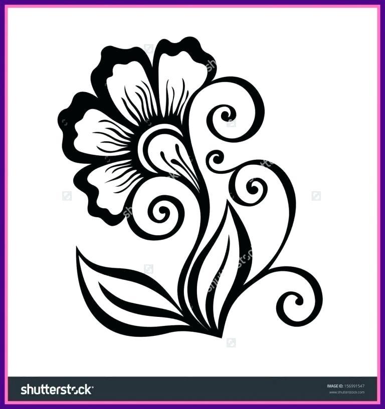 768x817 Flower Designs To Draw
