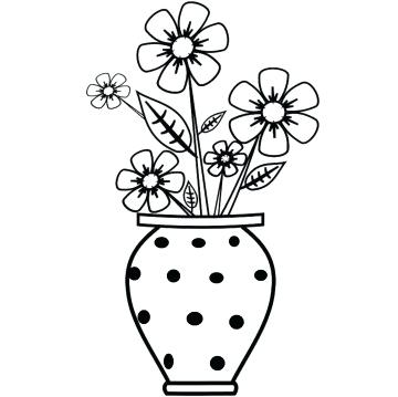 360x359 Draw A Flower Draw A Beautiful Flower Pot