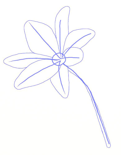 390x500 How To Draw A Lily Flower