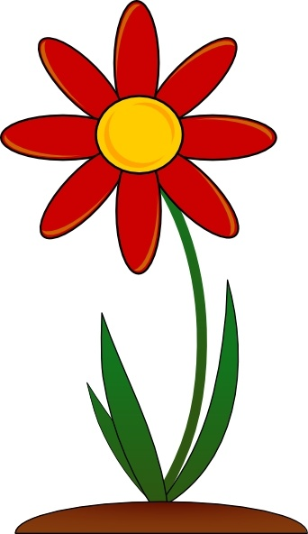 342x592 Red Flower Clip Art Free Vector In Open Office Drawing