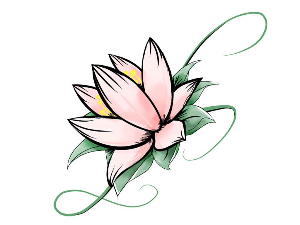 1024x768 simple lotus flower drawing and lotus flower drawing simple lotus