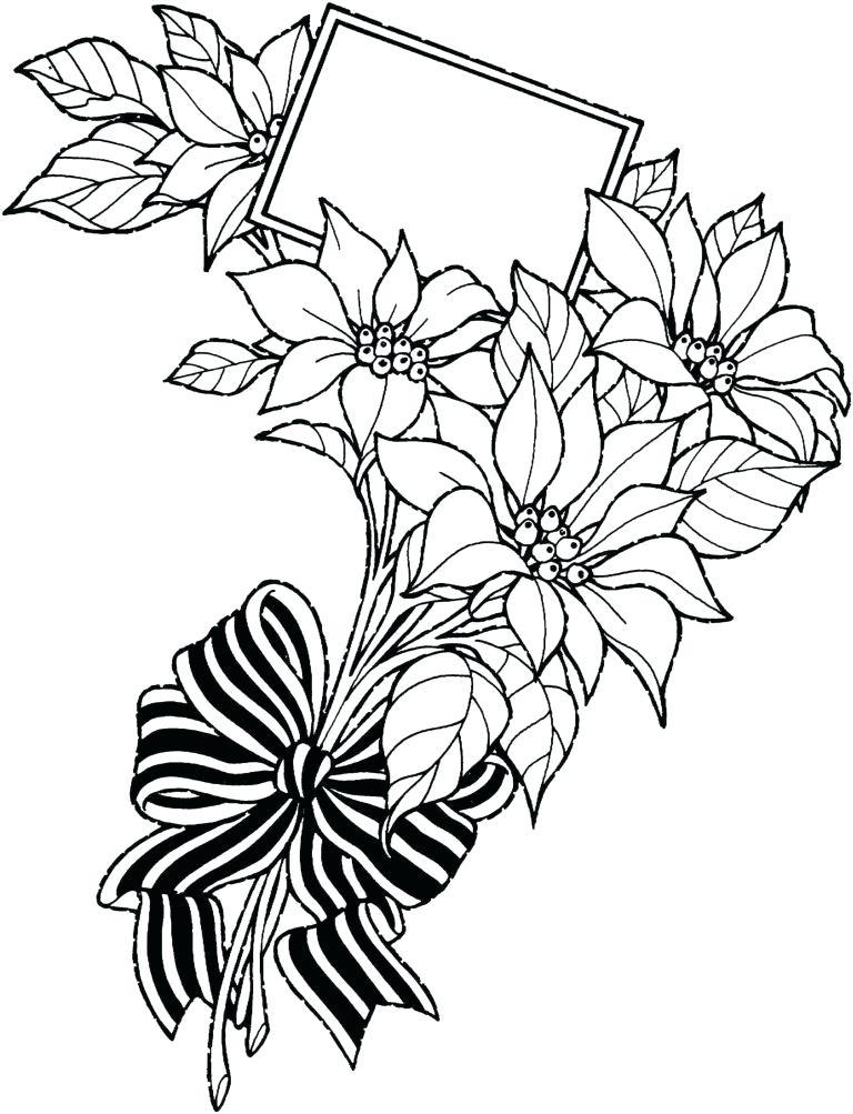 768x1003 Hawaiian Flowers Drawing