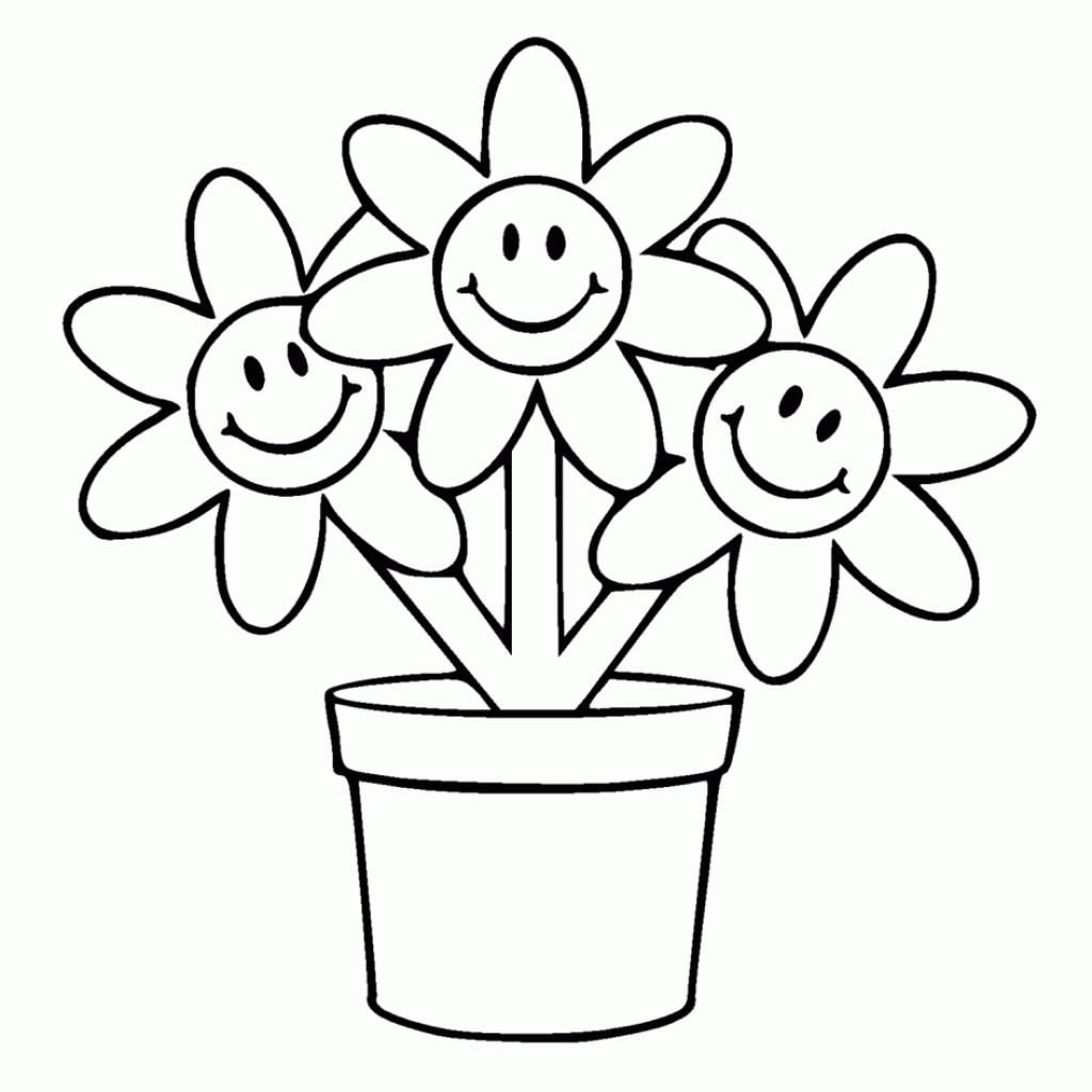1024x1024 Easy Cartoon Flower Drawings Cartoon Flower Drawings Cartoon