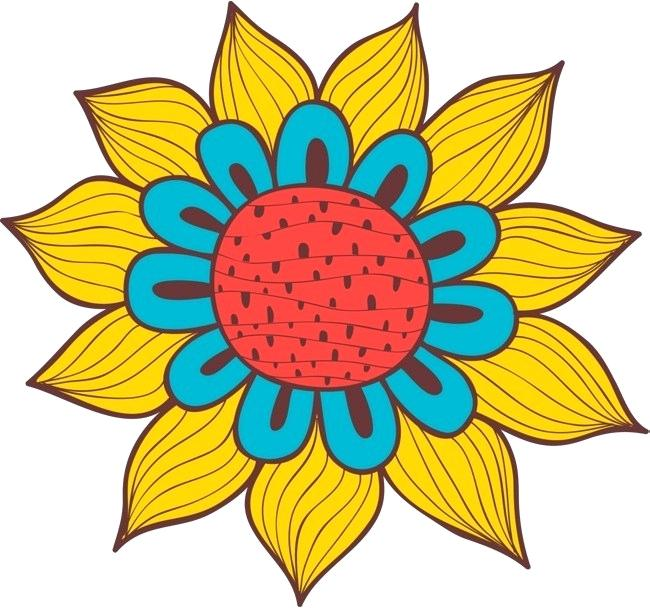 650x608 Simple Cartoon Flower