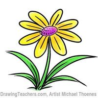 200x200 Cartoon Flower Drawing Tutorial Cool Crafts Cartoon Flowers