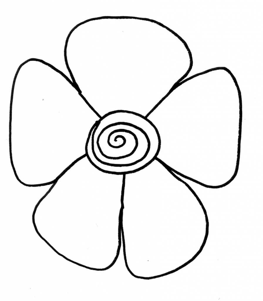 896x1024 Easy Drawing For Kids Flower Simple Drawing Of Flowers Easy