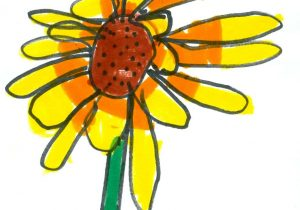 300x210 Flower Child Drawing Children Drawing Child On Flower Flora