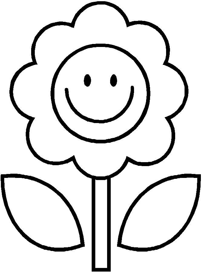 671x904 Flowers Drawing For Kids Clip Art