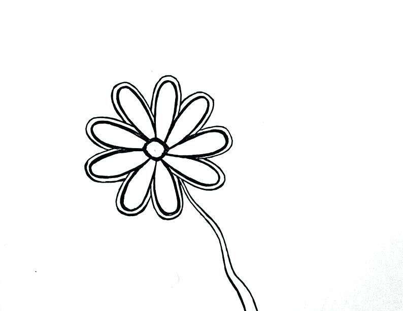 794x613 Simple Flower Drawing For Kids Image Architectures In Spain
