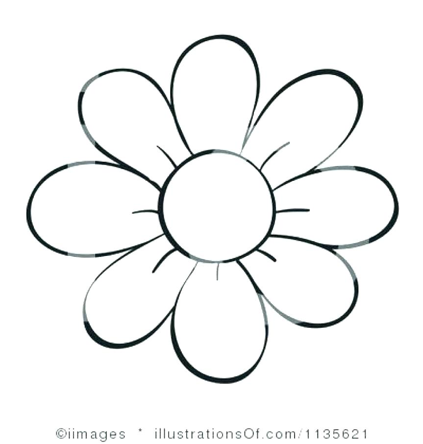 863x906 Simple Rose Drawing Flowers Bunch Outline Images Children Coloring