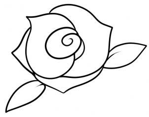302x237 How To Draw A Rose For Kids Step Draw It Rose Drawing Simple