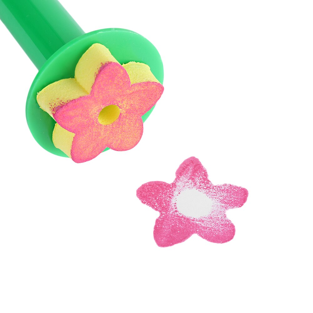 1000x1000 Creative Sponge Painting Brush Children Painting Brush Flower