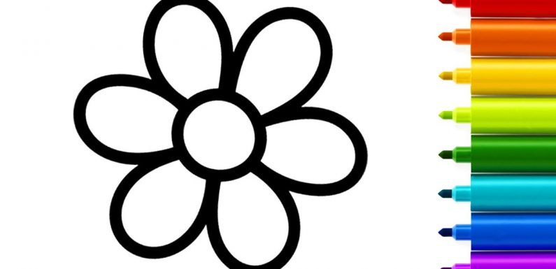 795x385 Images Of Flowers For Kids Drawing