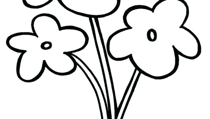 728x413 Kids Flower Drawing Flowers Outline Coloring Pages Architects Near