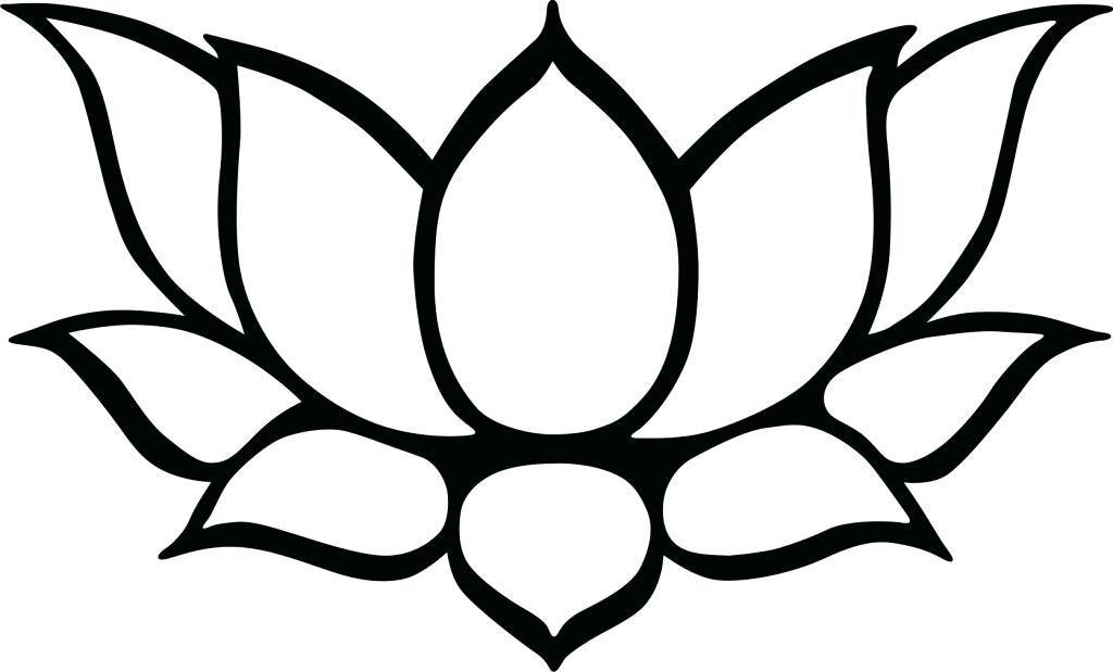 1024x619 Lotus Drawing For Kids How To Draw Lotus Flower Step Best