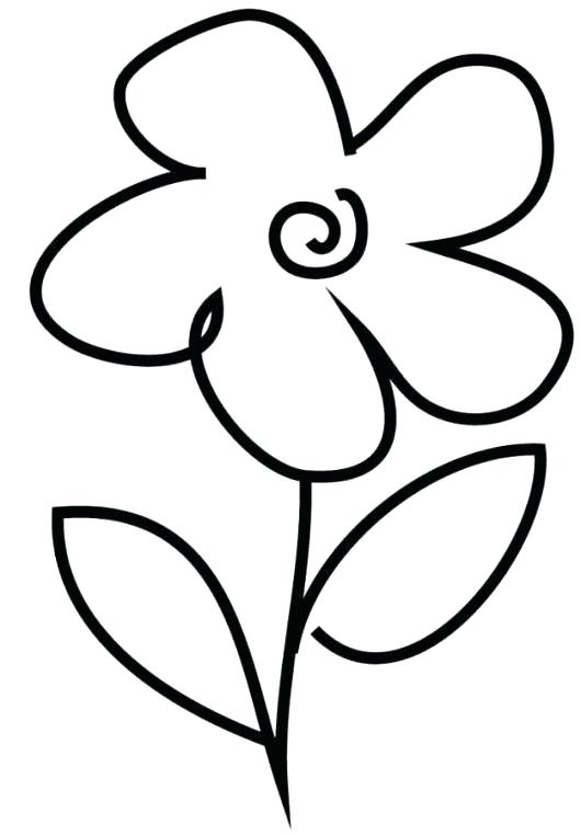 530x763 Simple Drawing For Children Simple Drawing For Kids Flowers How