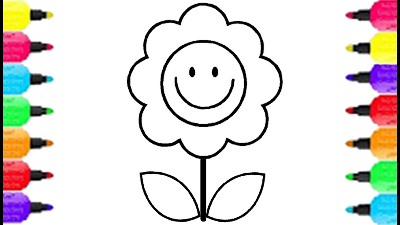 1280x720 simple flower emoji face coloring pages how to draw emoji face