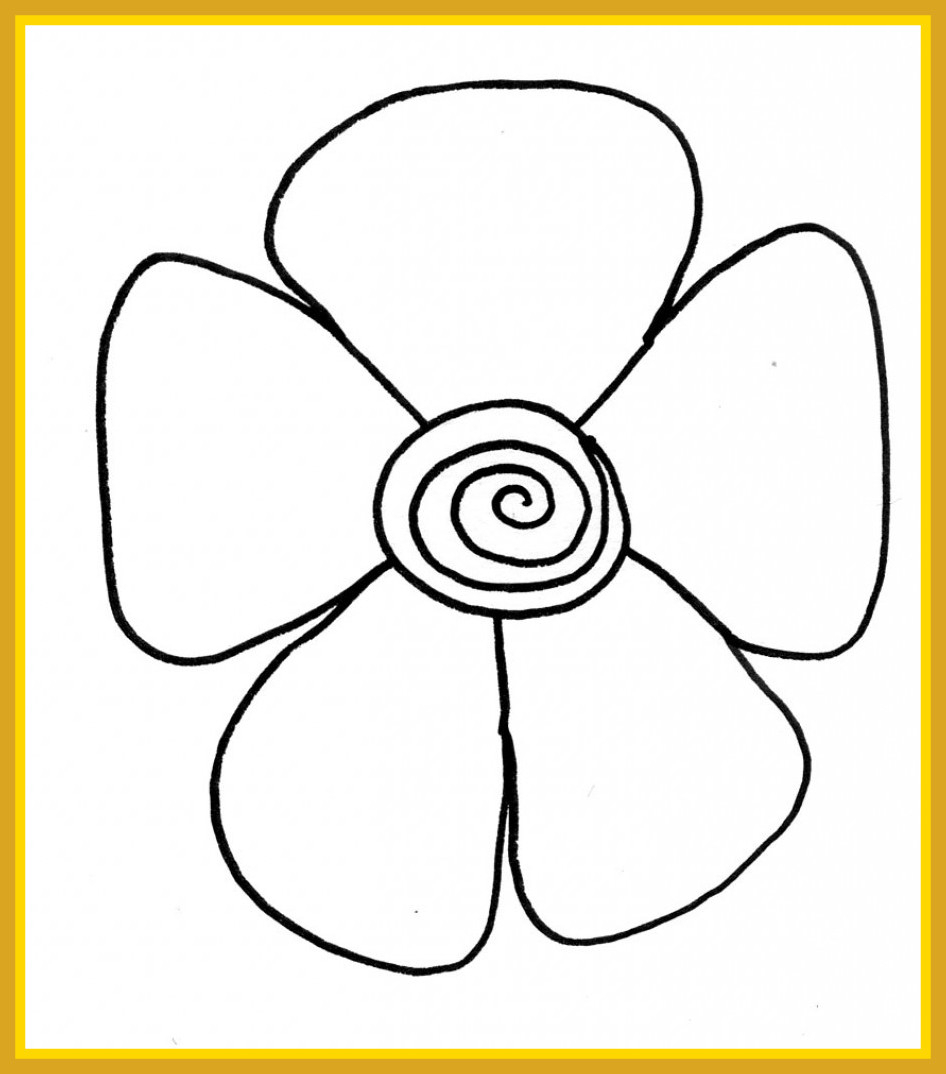 946x1074 Easy Flowers Drawings For Kids Fascinating Easy Flower Drawing
