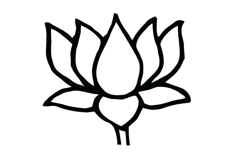 875x620 Flower Images Coloring Pages Simple Lotus Flower Drawing Flower