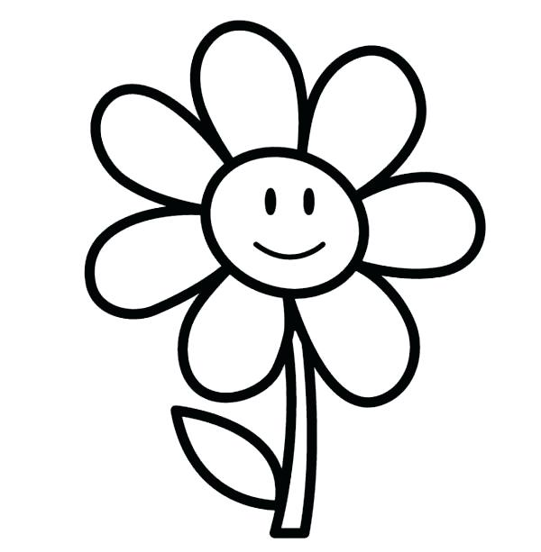 600x613 Simple Flower To Draw Step Simple Flower Drawings Tumblr