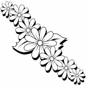 300x300 Flower Drawings To Print And Color Download This Coloring Sheet