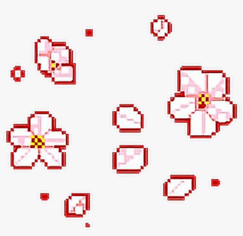 820x795 Flower Pink Pixel Tumblr Fundo Tumblrgirl