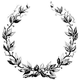 320x320 Wreath Tumblr Black Clipart