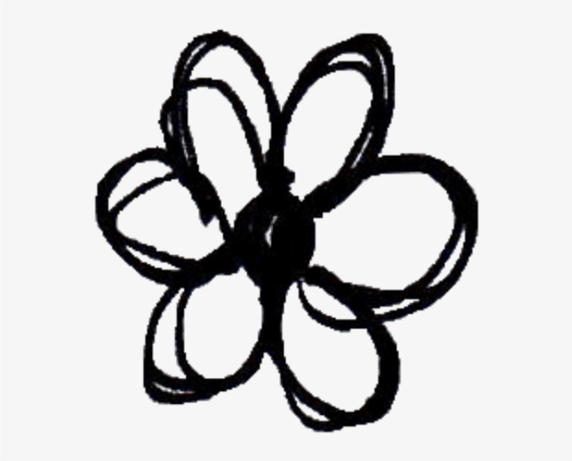 820x662 Black And White Tumblr Flower Stickers Topsimages