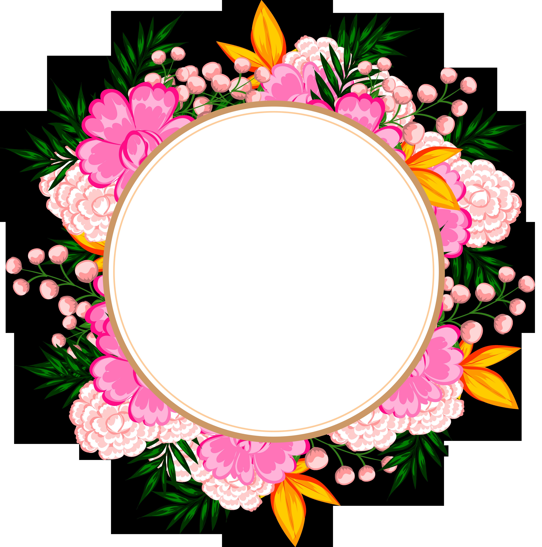 5000x5047 frames flower frame, cute frames, frame