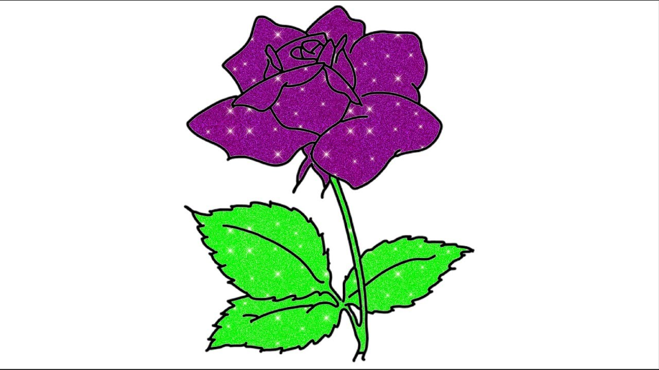 1280x720 Rose With Leaves Drawing Flower Drawing For Beginners How