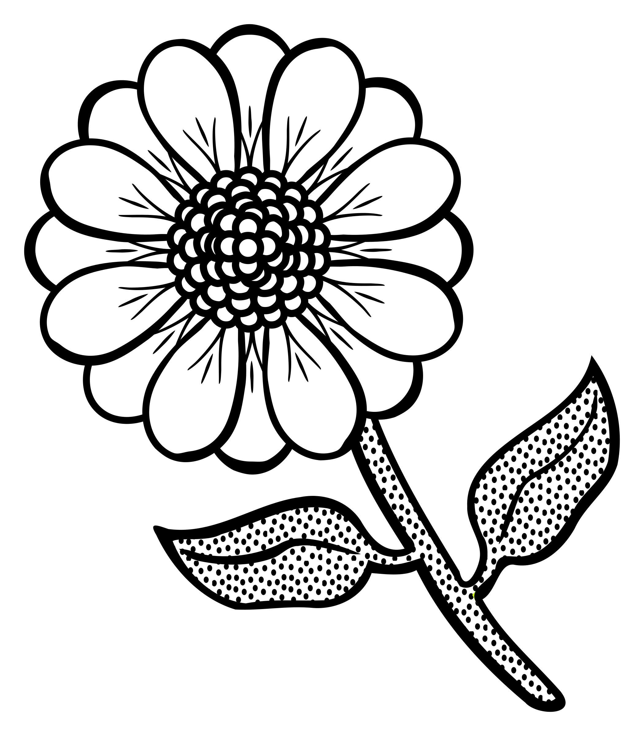 2099x2400 Line Flower Pictures And Cliparts, Download Free
