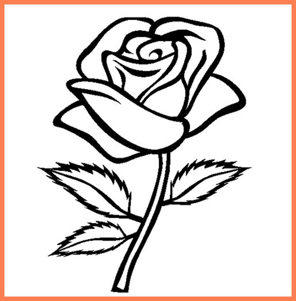 1012x1029 Rose Clip Art Line Drawing
