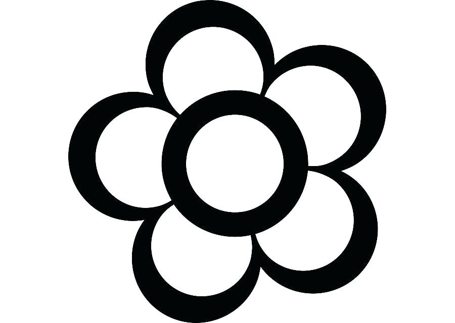 900x640 Simple Flower To Draw Flower Line Drawing