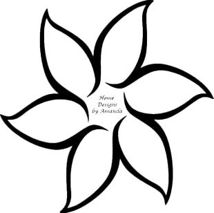310x308 flower line drawing png images, flower line drawing clipart free