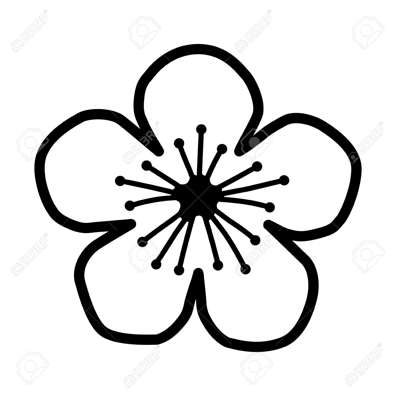 1300x1300 Free Line Drawing Of A Flower, Download Free Clip Art, Free Clip