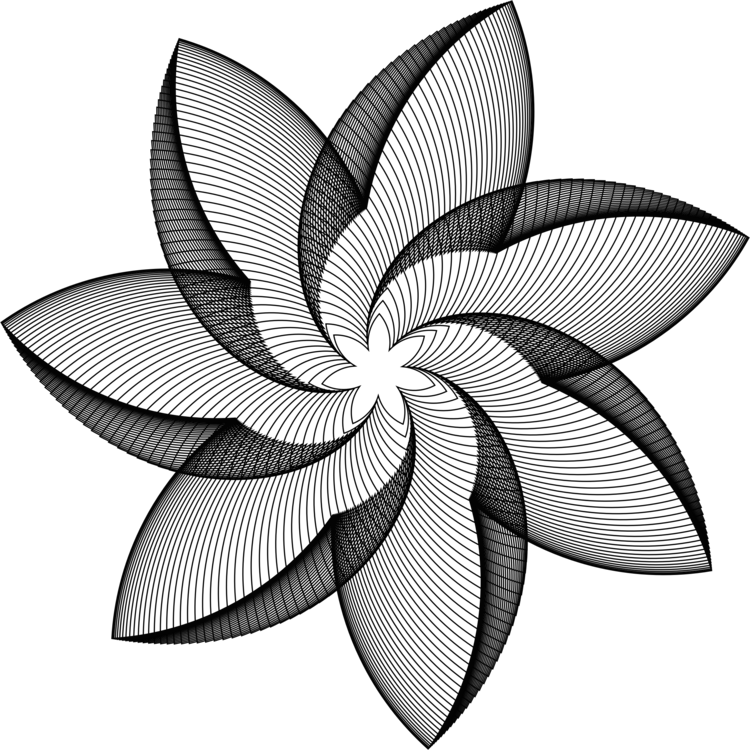 750x750 Geometry Flower Line Drawing Petal Cc0