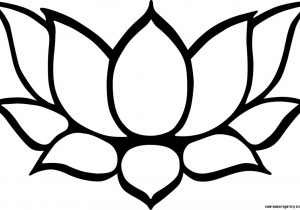 300x210 lotus flower line drawing flower line drawing clip art free