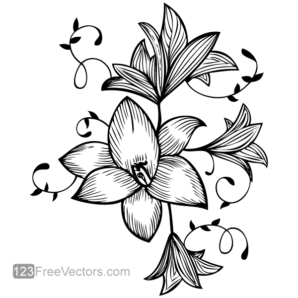 600x600 Flower Vector Graphic Printables Flowers, Free Vector Graphics