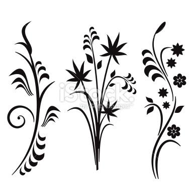 380x379 Flower Line Clipart
