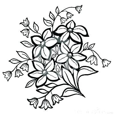 400x403 Simple Flowers Drawings Simple Flowers Drawing Background Vector