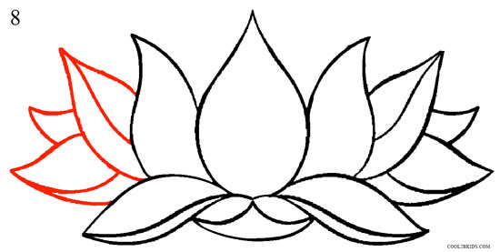 550x277 How To Draw Lotus Flower